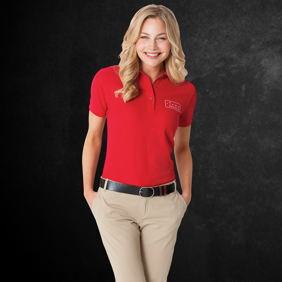 Port & Company Ladies Silk Touch Polo